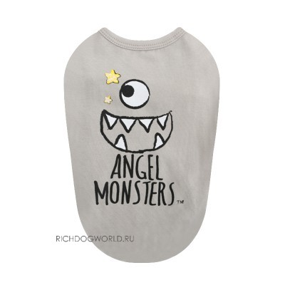 "585 PA-TS Майка для собак, бежевая #15 ""Angel Monsters T-shirt"", новинка!"
