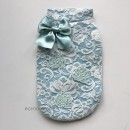 "PA353 Блузка для собак ЛИМИТИРОВАНАЯ КОЛЛЕКЦИЯ ""For Pets Only - Lace & Roses White/Light Blue"" (Италия) (S)"